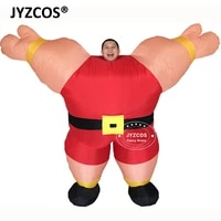 jyzcos mr fitness sailor weight lifting muscle man funny inflatable costumes party bar gym fancy dress outfit promotion tools