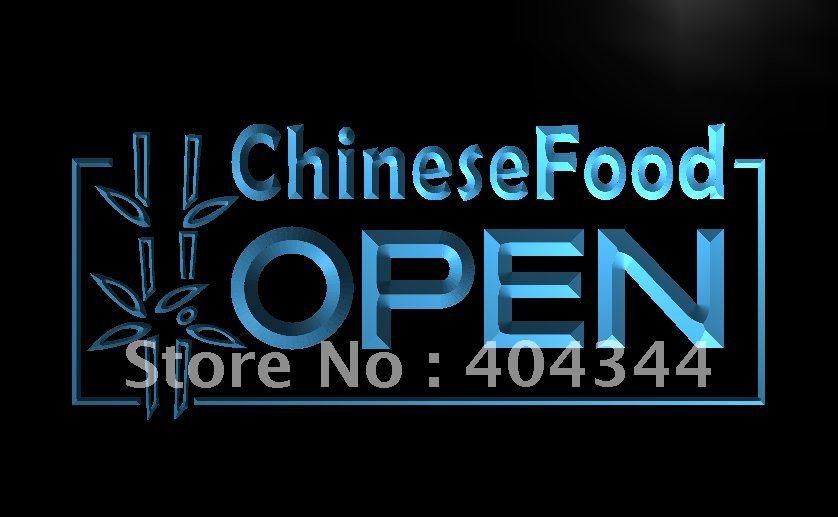 LB013-Pantallas de comida chinas abiertas para café letrero de neón con luz LED manualidades decorativas para el hogar