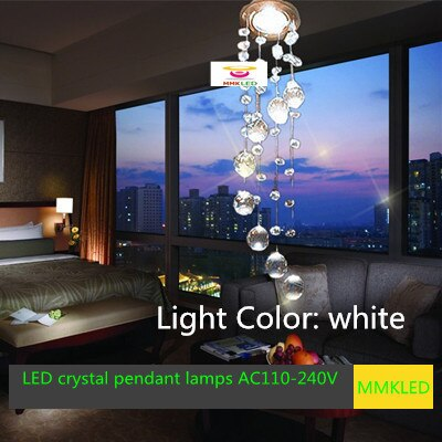 Envío Gratis Nuevo 2014 moderno led cristal pasillo lámpara de techo AC110-240V D85MM * H300mm