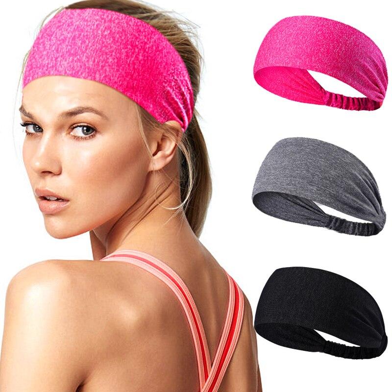 Bandas para el cabello para Yoga para mujer, diadema deportiva de algodón anudado para mujer y hombre, cinta para el pelo elástica ancha para Yoga, diadema deportiva