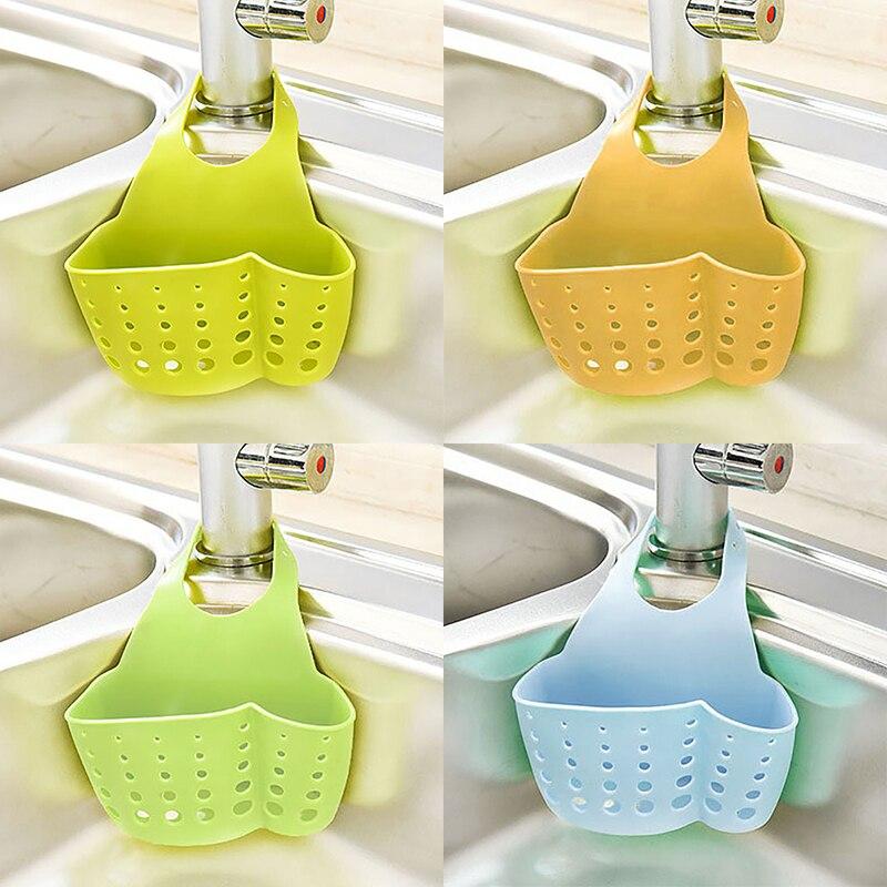 キッチンプラスチックシンクスポンジホルダーハングバスケットぶら下げスナップ用スクラバー皿ブラシキッチンアクセサリーオーガナイザー