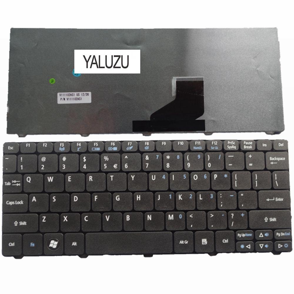 YALUZU US черная новая английская клавиатура для ноутбука Acer D257 D260 D270 EM350 N55C ZH9 ZE6 ONE 522 533 532G AO532h 532H 521 Black