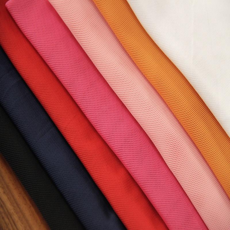 Spandex 4 Way Stretch Soft Nylon Mesh Fabric Soft Birdeyes Lining Underwear Cosplay Stockings Knit Mesh DIY Material