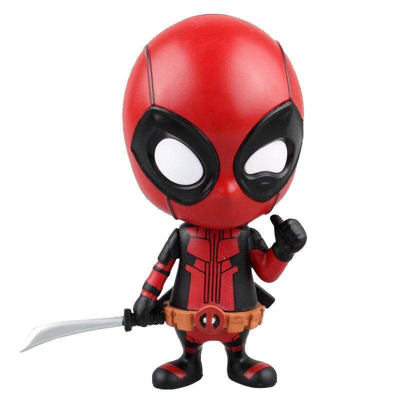 Deadpool Bobble cabeza sacudir la cabeza muñeca PVC figura de acción de juguete de modelos coleccionables 10cm KT2523