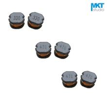 100 stks SMD 10*9*5.4mm Chip Choke Coils Draad Wond Vermogen Spoel 100/120/ 150/220/270/330/390/470/560/680/820uH