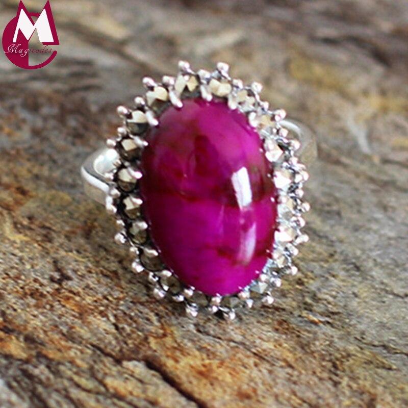 Punta de sugilita natural gemas púrpura de moda 100% Plata de Ley 925 de alta calidad de joyería de boda anillo para mujer