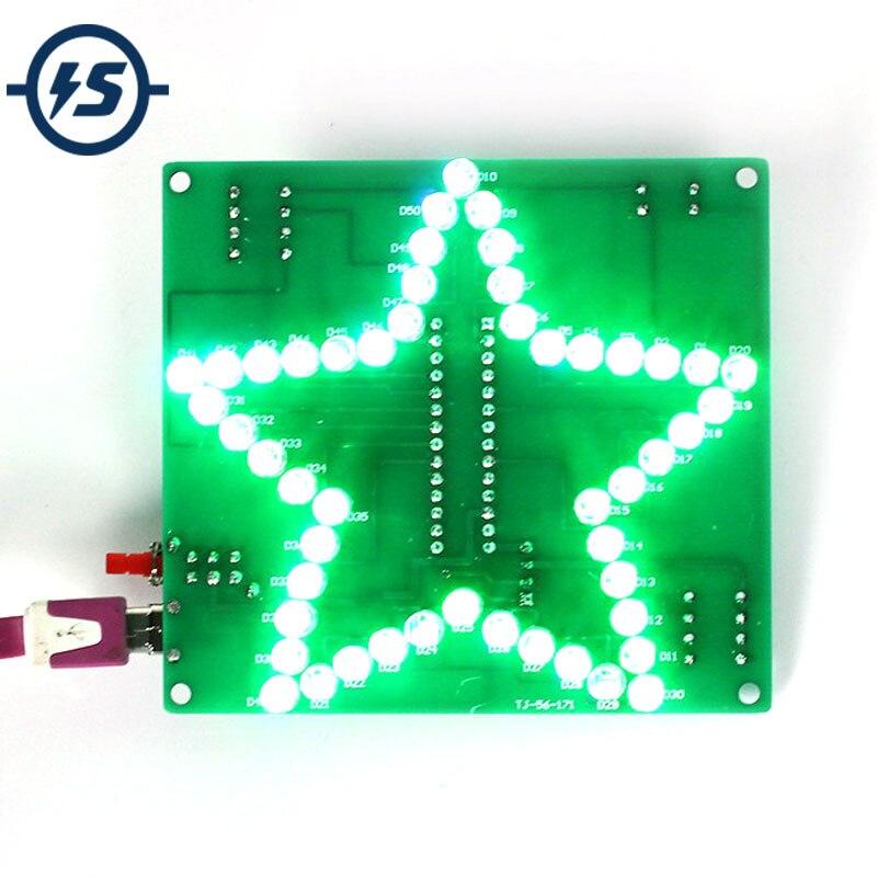Набор для самостоятельного изготовления, цветной светодиодный фонарь с эффектом воды, блестящий светодиодный модуль постоянного тока 4,5-5 в...