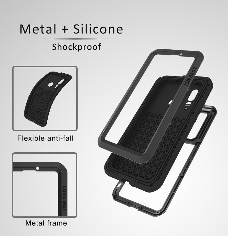 Gorilla glass film gift) LOVE MEI металлический водонепроницаемый чехол для Huawei P40 Lite 6,4 противоударный чехол для Huawei P40 Lite чехол capa