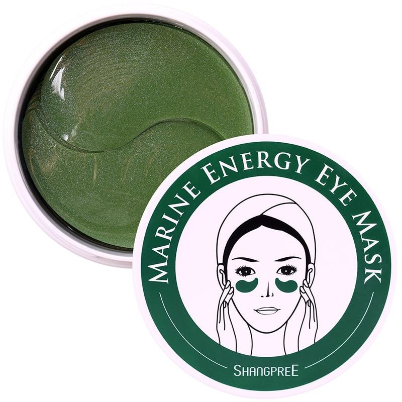 La energía marina ojo máscara 60 uds cuidado de la piel dormir máscara removedor oscuro Dircles Anti arrugas en los ojos cuidado máscaras Corea cosméticos