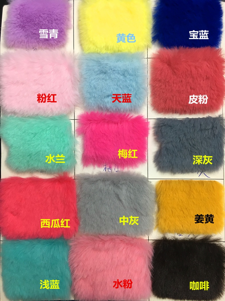 Imitation Rex Rabbit Fur Fabric Long Plush White Counter Display Background Cloth Scarf  - buy with discount
