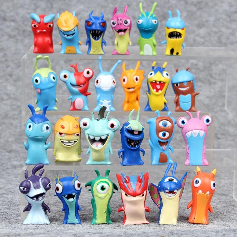 3 uds Slugterra modelo de juguete de Penholder juguetes Anime dibujos animados miniatura paisaje juguetes circundantes acción figura niño regalo