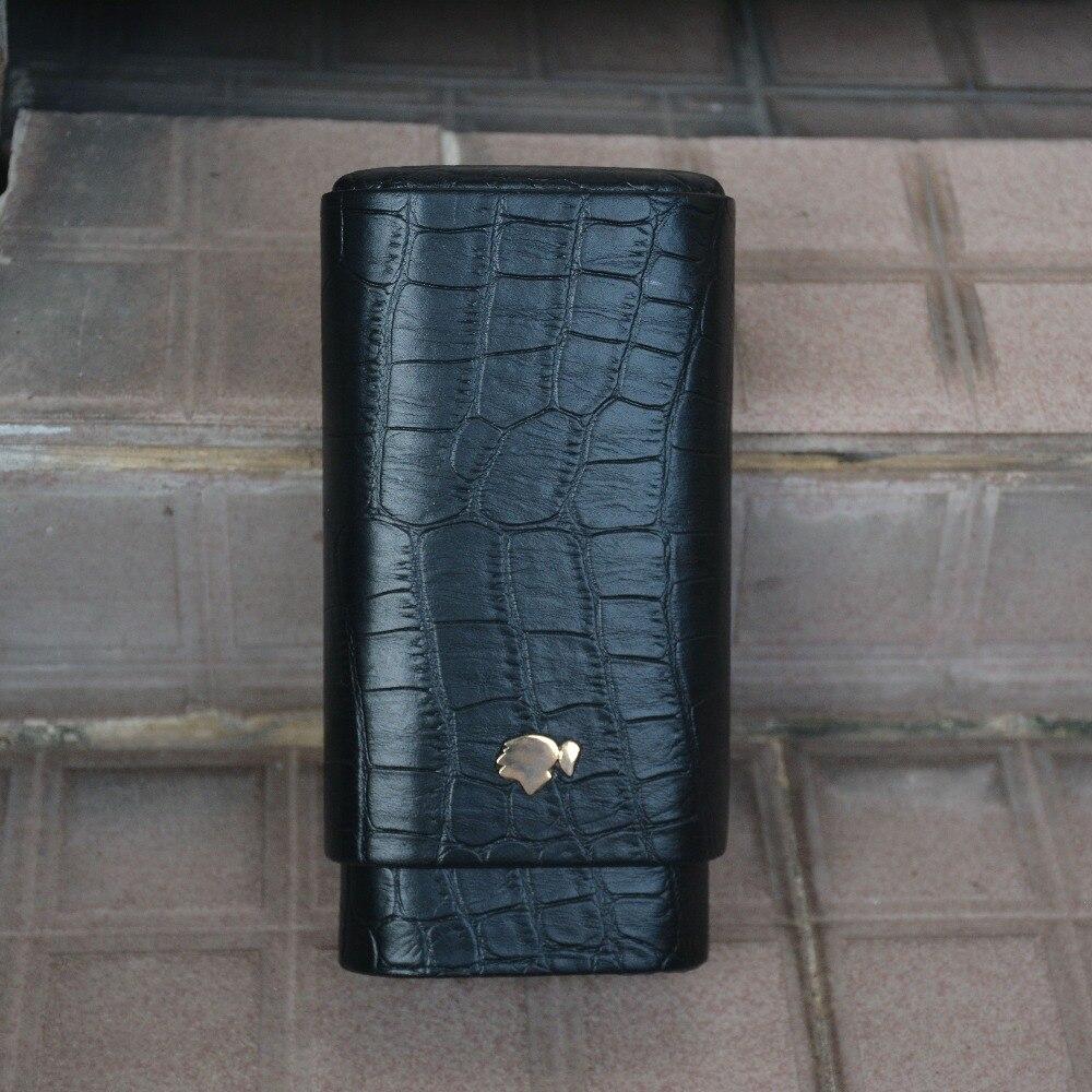 Чехол для сигары COHIBA из кожи крокодила высокого качества, черный чехол для сигар для путешествий, держатель для сигары
