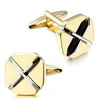 hawson golden plated mens cufflinks fashion cuff links button for wedding dress