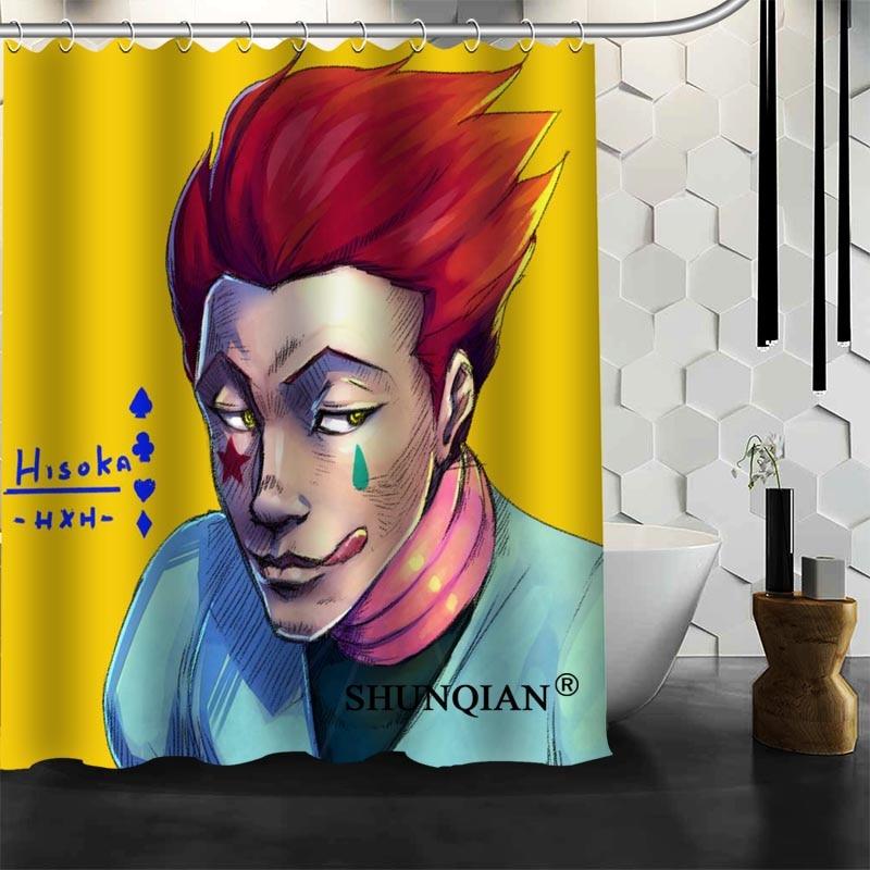 ShunQian Hisoka Cortina de ducha divertida cortina para baño impermeable de poliéster tela respetuoso con el medio ambiente baño cortina de regalo