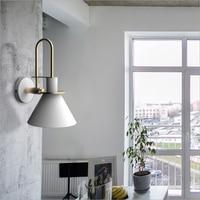 Led Personality Simple Modern Creative Art Restaurant Living room Stairs Aisle Bedroom Bedside lamp Macaron Light Black White
