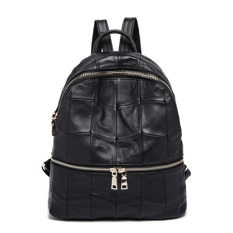 Mulheres mochilas de couro genuíno marca senhoras moda mochilas para adolescentes meninas sacos de escola sacos de viagem de couro real 8908 #