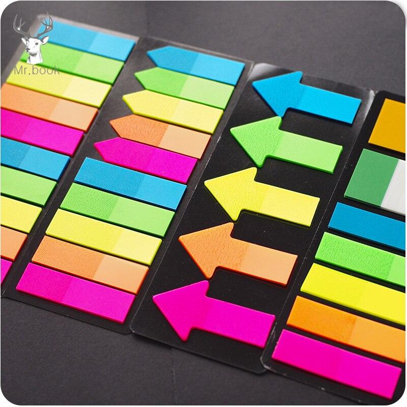 Цветные 20 листов, 5 цветов, творческие маркерные наклейки со стрелками, стикеры с флагами, для страниц, маркерные наклейки, канцелярские принадлежности для офиса
