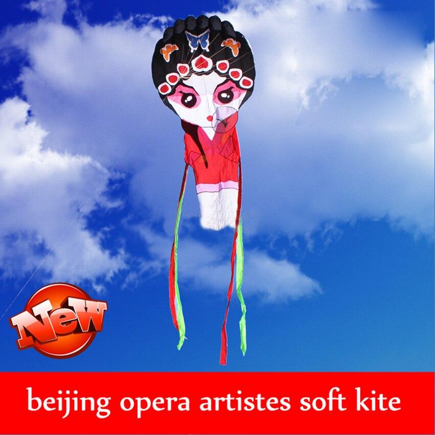 1PC High quality Chinese traditional kite beijing opera kite flying toys Outdoor Peking Opera mask kite