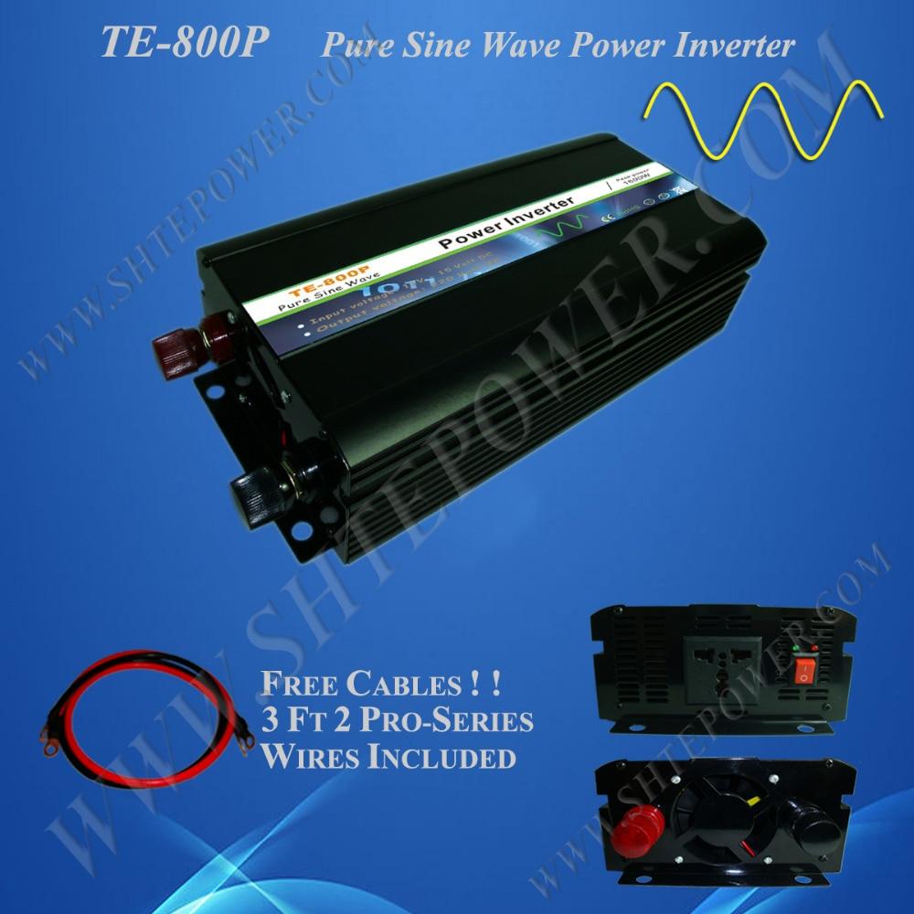 Inversor de energía solar de 800 W, inversor dc 12 v/24 v 48v a ac 100 v/110 v/120 v/220 v/230 v, inversor de onda sinusoidal pura