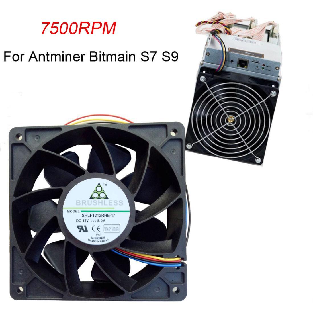 Mini computadora Mini ventiladores 7500RPM ventilador de refrigeración de repuesto 4-pin conector para Antminer Bitmain S7 S9 caída caliente envío G20
