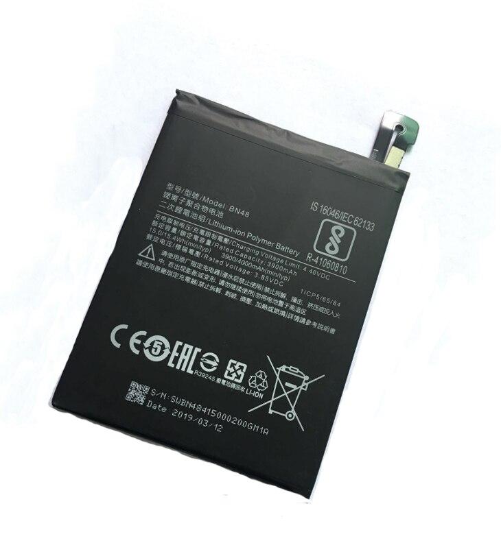 20pcs/lot 3900mah BN48 internal cellphone Battery for Xiaomi Redmi Note 6 Pro / Hongmi Note6 Pro Phone replacement
