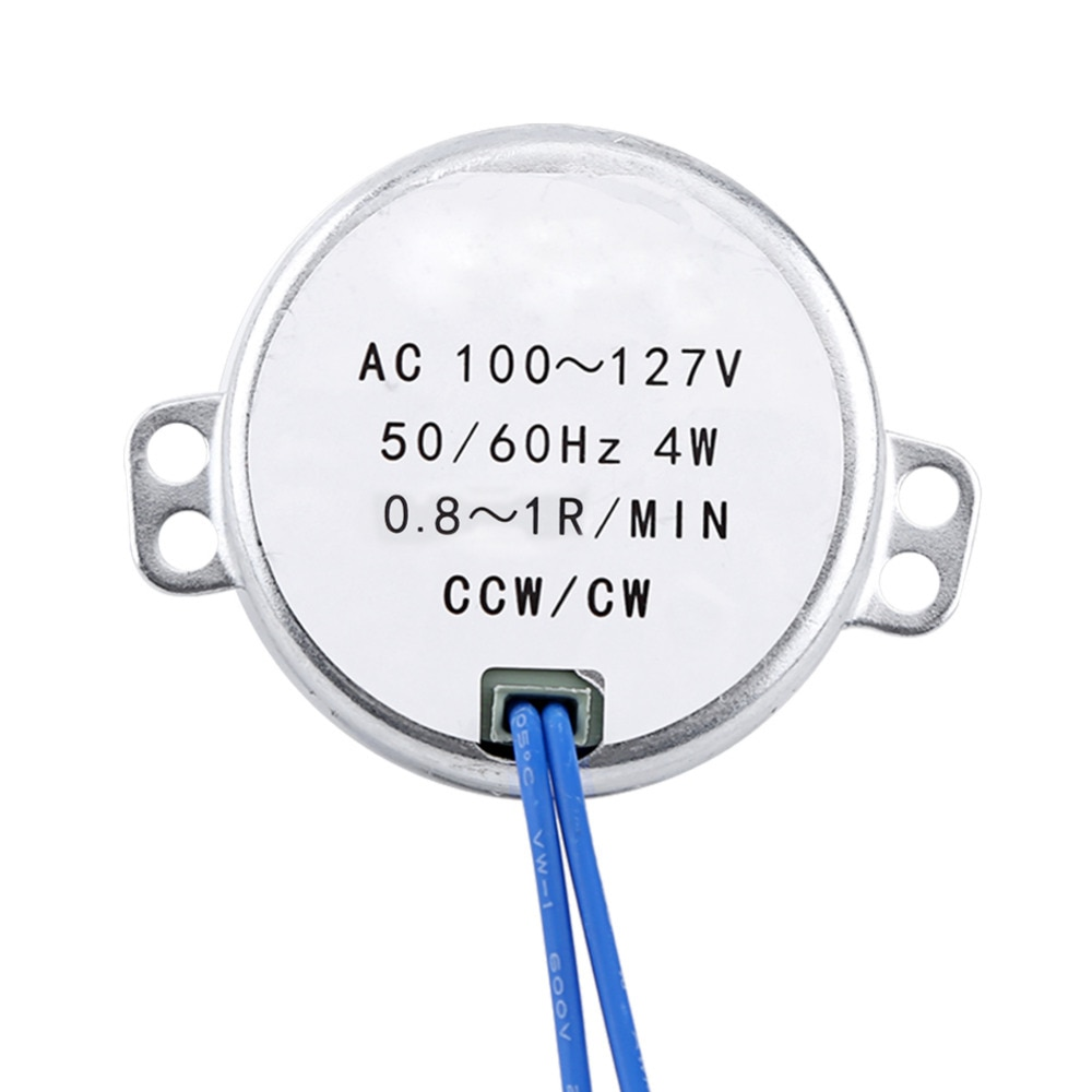 Motor de engranaje de 50/60Hz Motor síncrono AC 100-127V 4W CCW/CW Motor rotativo (0,8-1 RPM)