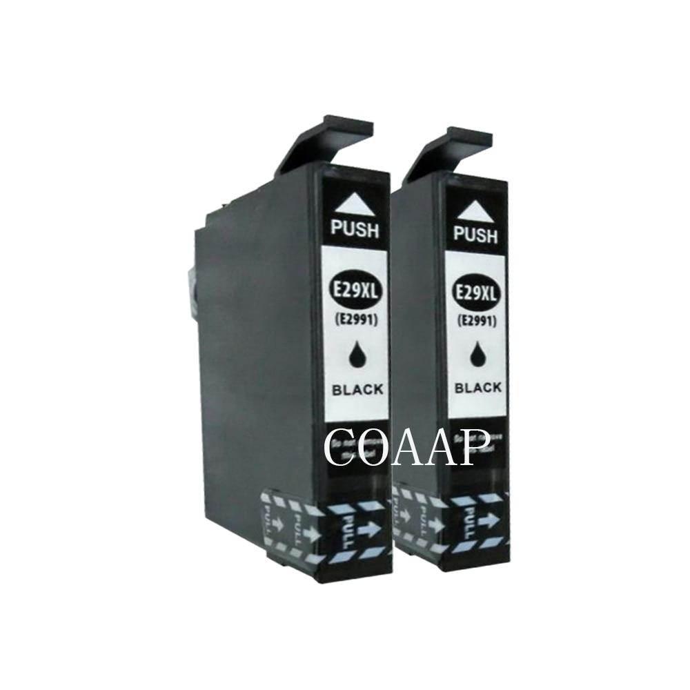 2x Compatible EPSON T2991 cartucho de tinta negro para XP245 XP247 XP442 XP445 XP235 XP332 XP335 XP432 XP435