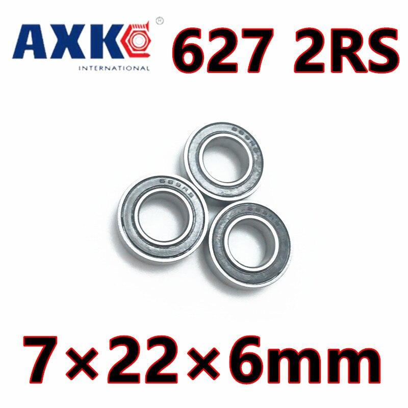 627rs teniendo Abec-5 (10 uds) 7*22*6 Mm miniatura sellada 627-2rs rodamientos de bolas 627 2rs