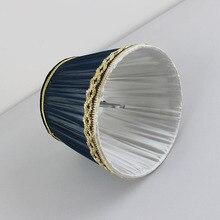 DIA 15 cm/5.9 pouces de haute qualité couleur bleu profond abat-jour en dentelle pour lampe, Clip sur