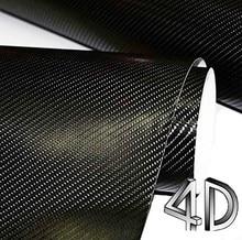 5meter 4d carbon fiber vinyl carbon film wrap phone Motorcyle Car interior Exterior Sticker Glossy Wrapping Vinyl Wrap Cover