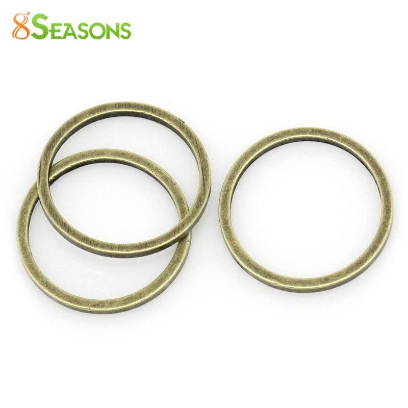 8 estaciones de cobre anillos de salto cerrados bronce antiguo 12mm de diámetro, 100 piezas (B30539)