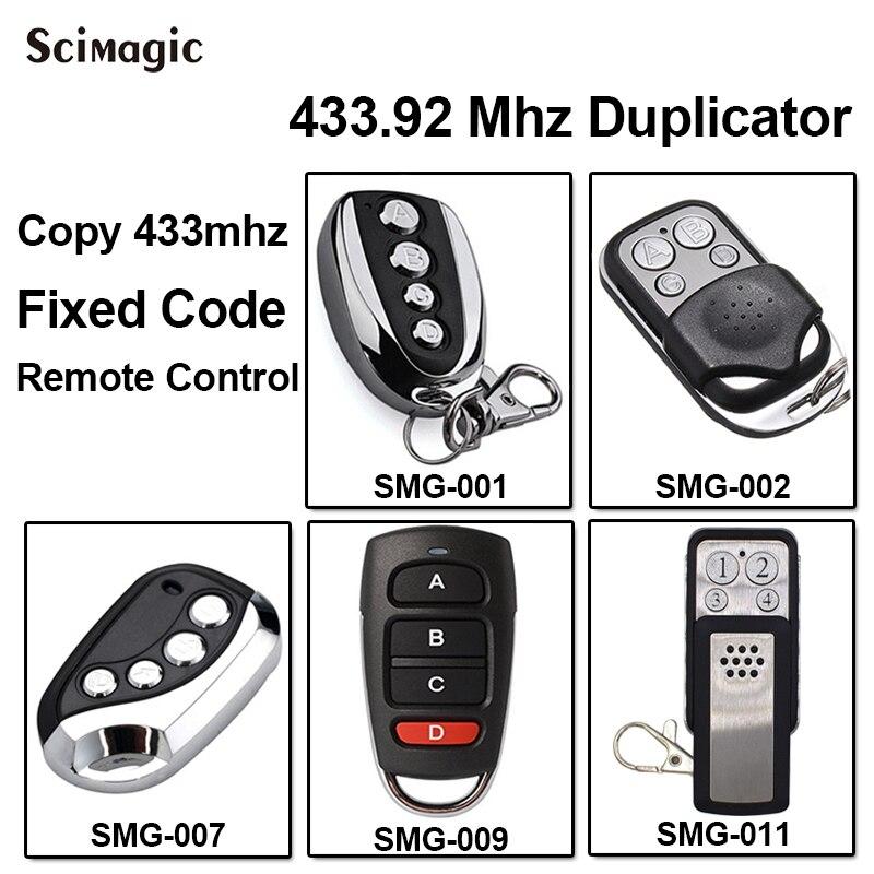 DITEC GOL4C reemplazo control remoto transmisor clon 433,92/433MHz clave de código fijo fobs