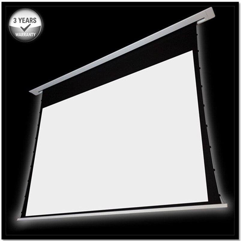 THLX-1 169 HDTV incorporado techo eléctrico empotrado pantalla del proyector-Cine blanco 1,3 ganancia