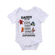 Vêtements super héros pour bébés de 0-18M   Vêtements pour nourrissons, combinaison à manches courtes, design de dessin animé, vêtements pour bébés