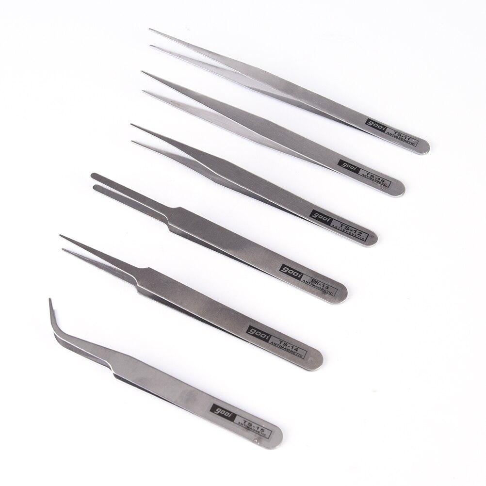 6 uds. Herramienta de coser todo propósito conjunto de pinzas de precisión de acero inoxidable Anti herramienta estática Kit de cocina