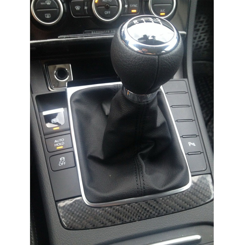 5 Speed 6 Gear Shift Knob With Chrome Frame For VW Passat B6 CC 3C R36 TDI 2005 2006 2007 2008 2009 2010-2013