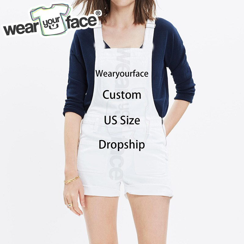 Custom Dropship US Standard Size 3D All Over Printed Overalls Hipster Playsuits Hipster Summer Street Wear Men Women
