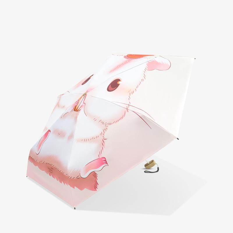 Paraguas lluvia mujer personalizado de fábrica gato de dibujos animados paraguas mujer cinco plegable sombrilla Sombrillas anti UV Proteccion Solar WZP135-2