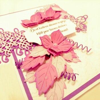 Flowers Cutting Dies Greeting Cards Scrapbooking Die Stamp DIY Scrapbooking Card Photo Decoration Supplies Flowers 30*30+50*50mm