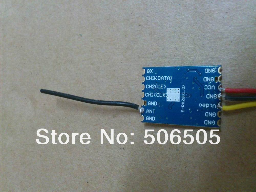 8CH micro 2.4G video wireless receiver module Support put in the mainboard enlarge