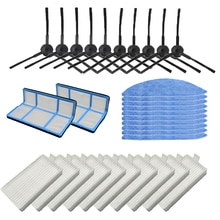 Escova lateral filtro de poeira preliminar hepa filtro mop almofada para chuwi ilife v5 v5s v3 v3s v5 pro x5 robô aspirador peças