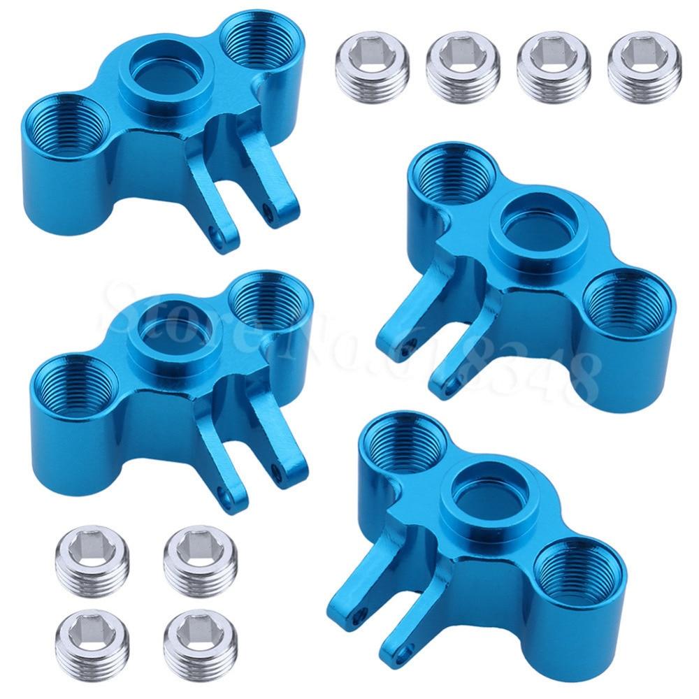Portadores de eixo de alumínio direção, 4 unidades, esquerda e direita para traxxas 1/16 slash 4wd e-revo verão vxl peças do carro do rc