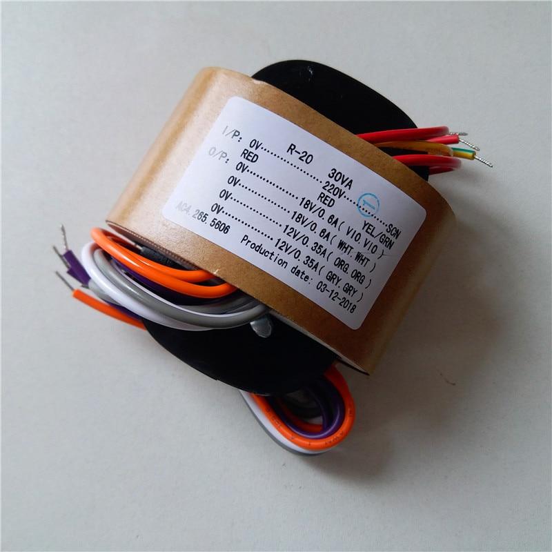 18 в 0.6A 12 В 0.35A R сердечник трансформатор 220 30VA с экраном для DAC декодирование платы