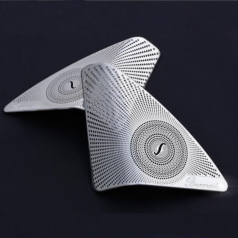 Stainless Steel Car Door Audio Speaker sequins Cover Trim sticker for Mercedes Benz C-Class C180 C200 W205 styling 2015-2018