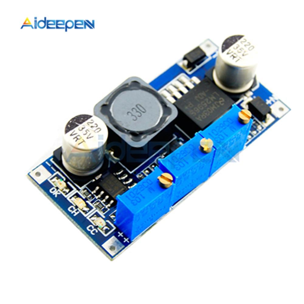 Controlador LED LM2596 DC-DC módulo reductor de fuente de alimentación 7 V-35 V a 1,25 V-30 V 3A convertidor regulador de tensión regulable para Arduino