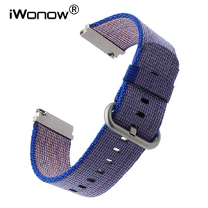 22mm Quick Release Nylon Watchband for Moto 360 2 46mm Pebble Time / Steel Vector Ticwatch 1 Seiko SKX007 Watch Band Wrist Strap