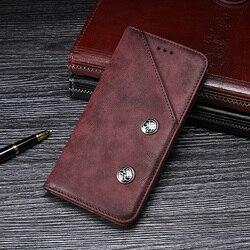 Para lenovo k5 pro caso 5.99 luxury luxury luxo retro rebite couro flip carteira caso do telefone para lenovo k5 pro l38041 capa acessórios
