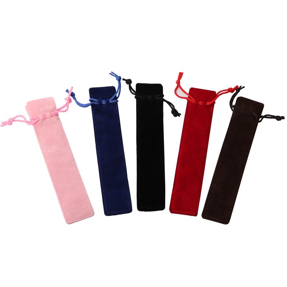 5 unids/lote estuche para lápices bonito material escolar BTS papelería regalo para la escuela Linda caja de lápices estuche de terciopelo bolsa para lápices