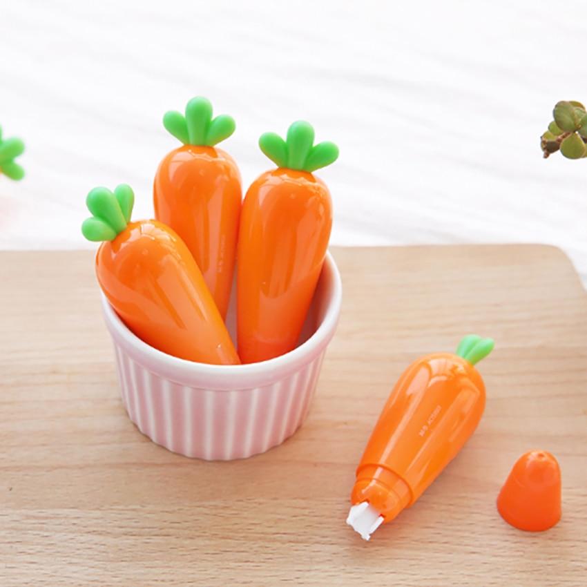 6m * 5mm Super lindo zanahoria verduras cinta de corrección Kawaii escuela Oficina suministros estudiante papelería creativa chico regalo de corrección