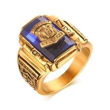 Herren Finger Ringe Edelstahl Blau Strass 1973 Walton Tigers Gold-farbe Schule Klasse Jahrestag Schmuck Anel Ane